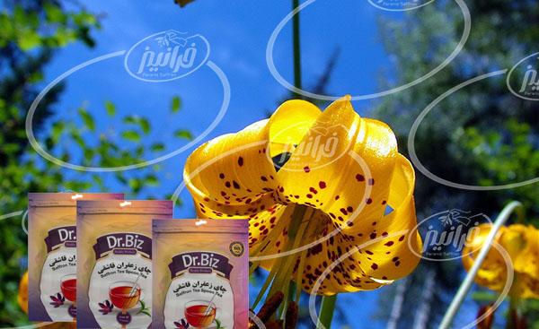 فروش چای زعفران قاشقی