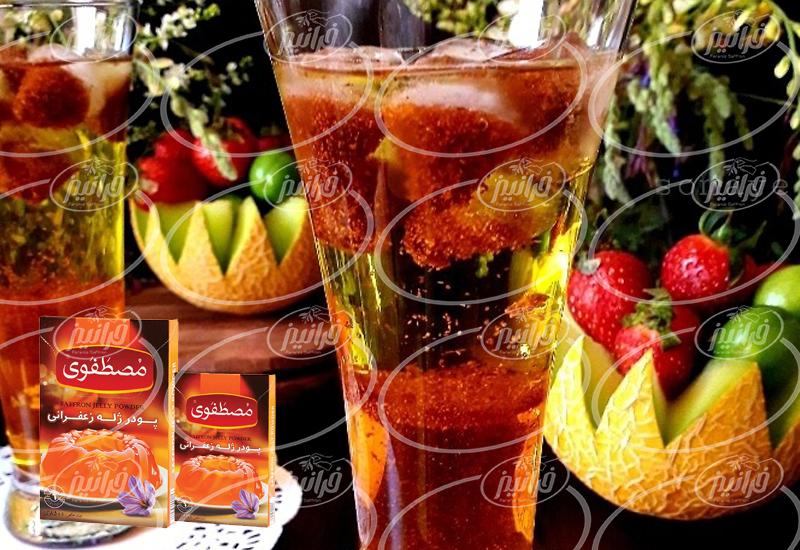 پخش و توزیع پودر ژله زعفرانی رستورانی