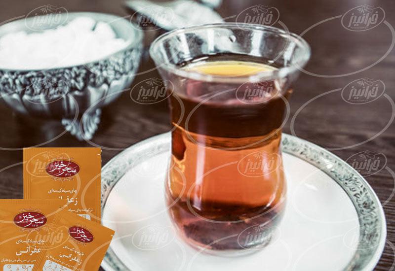 اعلام قیمت چای زعفرانی سحرخیز در بازار اینترنتی
